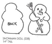 Snow Man Doll
